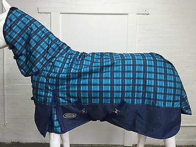 Axiom 1800D Ballistic Blue Check/navy Light Mesh Horse Combo Rug - 7' 0