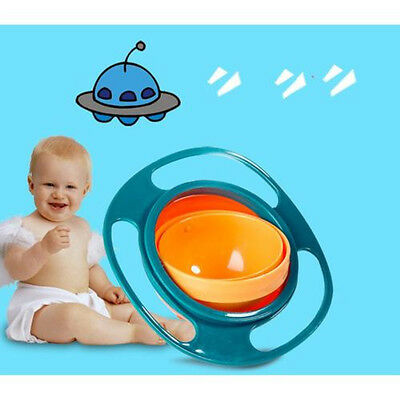 Non Spill Feeding SD Toddler Gyro Bowl 360 Rotating  Baby Avoid Food Spilling