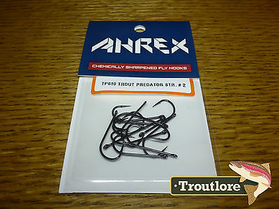 18 x AHREX TP610 #2 TROUT PREDATOR STREAMER HOOKS NEW FLY TYING MATERIALS