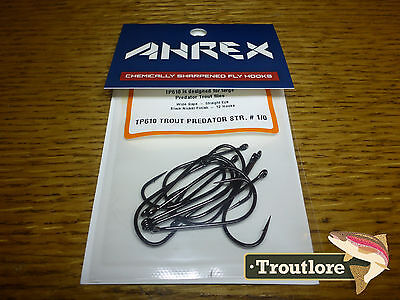 18 x AHREX TP610 #1/0 TROUT PREDATOR STREAMER HOOKS NEW FLY TYING MATERIALS