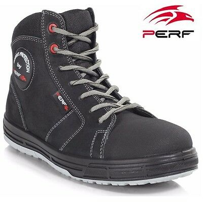Mens Ultra Lightweight Leather Safety Work Steel Toe Cap Shoes Trainers Boots Sz