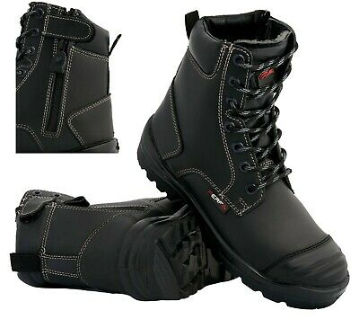 Mens Waterproof S3 Safety Military Combat Boots Police Army Work Shoes Boots Sz