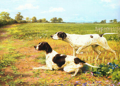 Pointer Dogs by Thomas Binks 1910  -  LARGE New Blank Note Cards