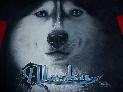 big face ALASKA WOLF t shirt by THE MOUNTAIN--vincent HIE art--looks UNUSED--(S)