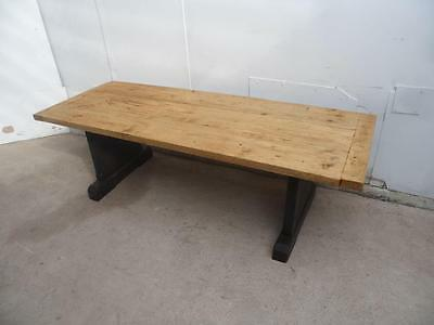A Superbly Waxed Antique Pine Very Large Victorian Coffee Table