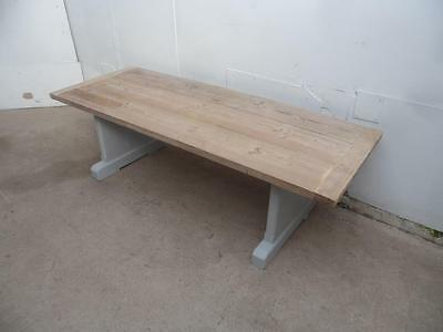 A Superb Late Victorian Antique Pine Shabby Chic 3 Plank Large Coffee Table