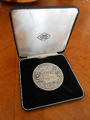 Pistrucci's Waterloo Medal By Pinches Sterling Silver #3002 of 5000 123.5 Grams