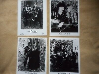 "Deep Purple Ritchie Blackmore Lot Of (4) Press Kit Glossie Photo's 8"" X 10"""