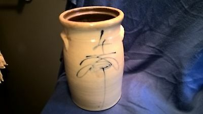 Red Wing Churn 4 gallon salt glaze drop target crock old butter