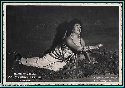 "CONSTANTINA ARAUJO - BRAZILIAN Soprano in ""Aida"" - Original Vintage Photo"