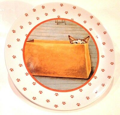 """RARE COLLECTIBLE 1984 Lowell Herrero Vandor """"Cat In A Box"""" Plate! FREE SHIPPING!"""