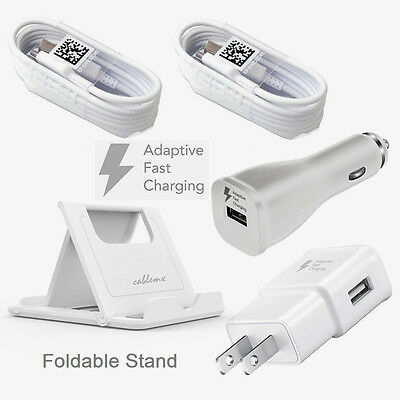 Samsung Galaxy S8 plus Adaptive Fast Charger  kit USB Type-C Cable 4ft Lot White