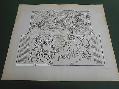 100% Original Chart Of Coast Of The Artic Circle/seas  Map By Vaugondy C1772
