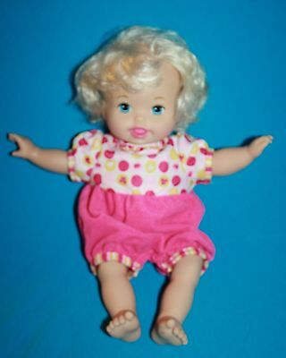 LAUGH and LOVE LITTLE MOMMY Baby Doll Talks Head Arms Move Mattel 2012