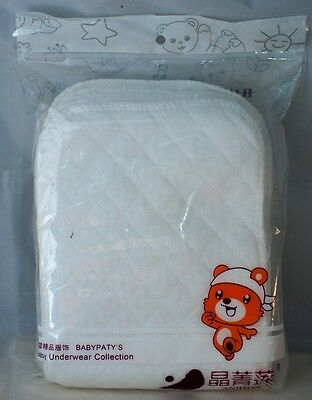 10 X Cloth Diaper/Nappy Liners Inserts 3 Layers Antibacterial Bamboo