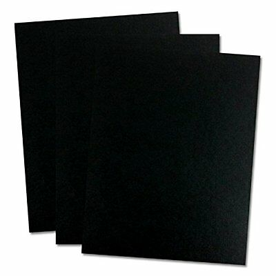 TruBind 8-1/2 x 11 Inches 12 Mil Sand Texture Polycovers - Pack of 100, Black