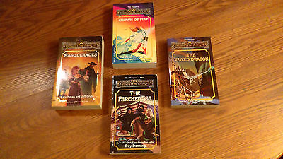 Forgotten Realms - Lot of 4 Books - Harpers ser. #1,9,10,12 Dungeons and Dragons
