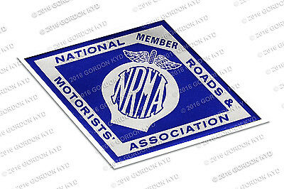 NRMA 1960's METALLIC WINDOW DECAL -  VALIANT HOLDEN FORD