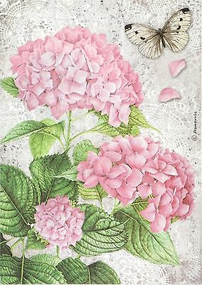 Rice Paper for Decoupage, Scrapbook Sheet, Craft Orchid and Butterfly