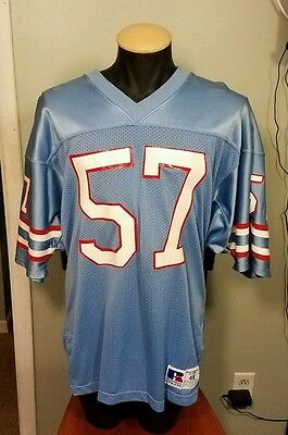f7cef5ae2 VIntage Houston Oilers Jersey Rare  57 Russell Athletics Size 48 NFL  1970-1980s
