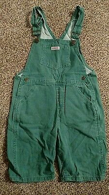 Vintage Guess Jeans Toddler Green Overalls Capris Pants Shorts Sz 6Y