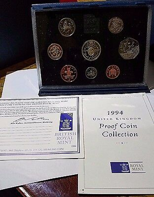 1994 United Kingdom Royal Mint 8 Coin Proof Set UK Great Britain Free Ship!