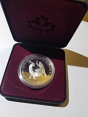 1988 Canada Silver Proof Dollar Coin  - Maurice Ironworks with case Free Ship!