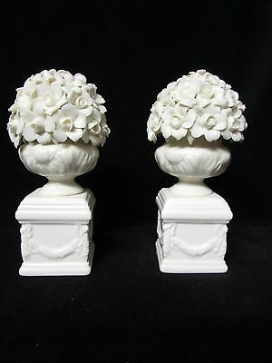 2 porcelain topiary garniture paris royal shabby antique french italian style
