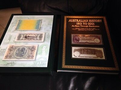 Australian History 1901-2001 As Seen Through Banknotes with Slipcase RRP$250