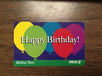 Dollar Tree Gift Card Happy Birthday! Balloons Special Event No ...