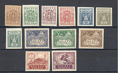 Poland, 1919 M issue imperf. MNH, **, VF