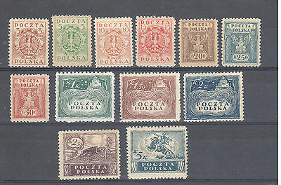 Poland, 1919 Kronen issue perf. MNH, **, VF