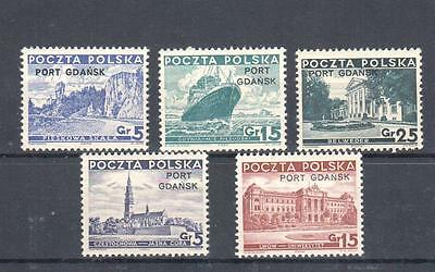 Poland, 1936-37 issue Port Gadansk MNH, ** VF
