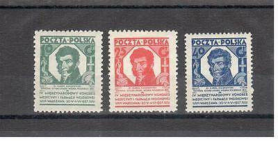 Poland 1927 issue Medical congres MNH,** VF