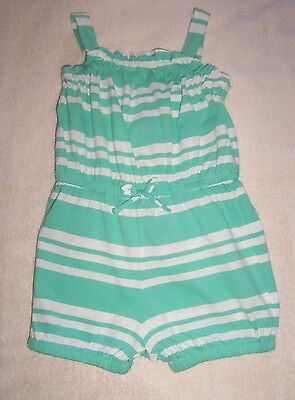 Baby Gap Girls Green and White Playsuit Age 3 years - 100% cotton - New