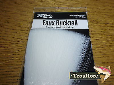 White Faux Bucktail Fish Skull Flymen Fishing Co - New Fly Tying Materials