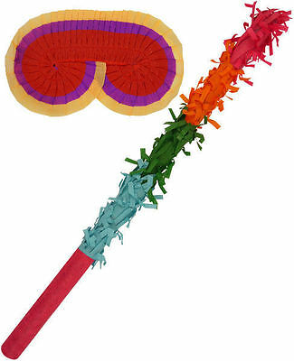 Pinata Buster Set  Basher Birthday Party Game Toy Eye Mask