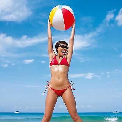 24 Inch 61cm Beach Ball Inflatable Blowup Panel Swimming Pool Summer Fun BW31022