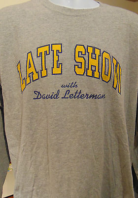 Late Show with David Letterman Long sleeve gray large