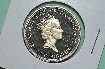 1995 great britain two pound proof - lettered & reeded edge
