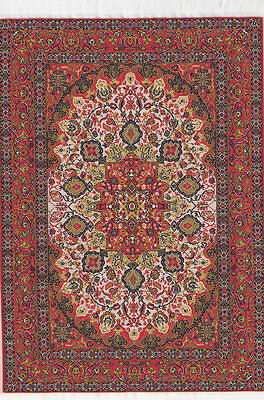 Large Turkish Carpet Rug Red , Dolls House Miniatures, Mat Rug Floor Accessory
