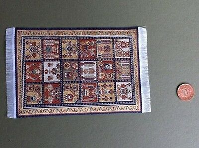 Woven Pattern Rug 4, Dolls House Miniature Rugs & Mats, 1.12 Scale Accessories