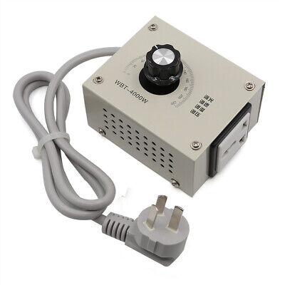 AC 220V 4000W Variable Voltage Controller For Fan Speed Motor temperature Dimmer