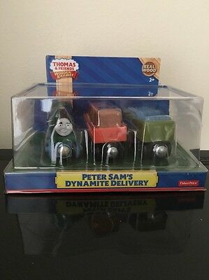 NEW Thomas Wooden Railway Peter Sam's Dynamite Delivery *Discontinued*