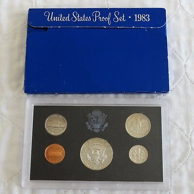 USA 1983 s 5 COIN PROOF YEAR SET - sealed/outer