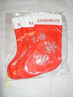 (4) Ravenswood Wine's - Sonoma CA - Promo Embroidered Christmas Stocking *NEW*