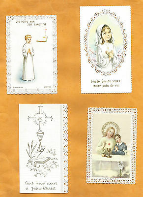 LOT 4  IMAGES PIEUSES   holy card COMMUNION  open work