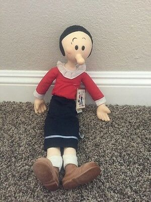 Vintage Popeye Olive Oil  Plush Doll 1985 With Tags