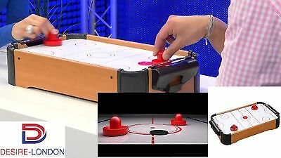 Baby Table Top Mini Air Hockey Table Pushers Pucks Toy Family Game Best Gift