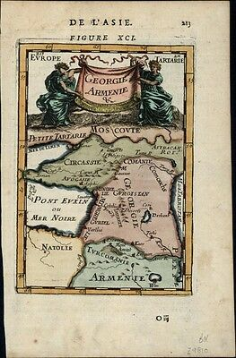 Georgia Armenia Circassia Black Sea Turkey 1683 old Mallet map decorative color